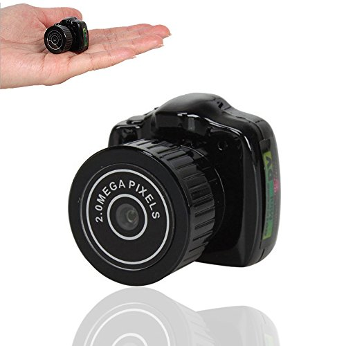 Kunli Mini versteckte Spion Kamera Portable Digital Video Recorder, Nachtsicht, Bewegungserkennung (Fob-mini)