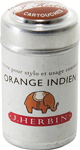 J hebrin Schreiben Tinte Patronen–Indisch Orange (6Stück) (Fountain Pen Refill-tinte)