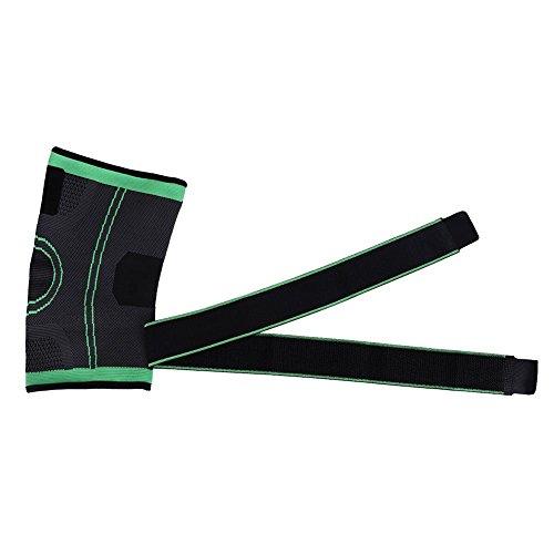 Dilwe Knieschutz Kompressions Erwachsene Hohe Elastische Wrap-around Wadenstütze Kniestütze Ärmel für Gelenkschmerzen Arthritis (L)