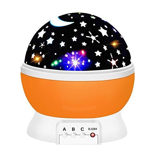 EUTOYZ Geburtstagsgeschenk für Mädchen 2-10 Jahre, Projektor Lampe LED Grandbeing Zimmer Nachtlicht für Kinder 2-10 Jahre Geschenke Jungen 2-10 Jahre 2-10 jährige Jungen Spielzeug Orange (Spielzeug Für Jungen 2-jährigen Beste)