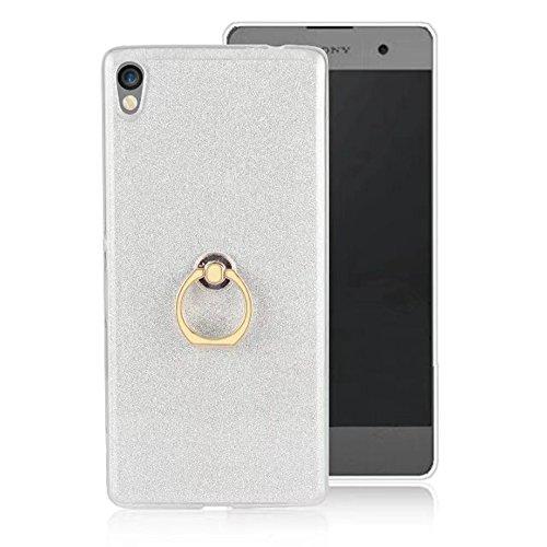 Soft Flexible TPU Back Cover Case Shockproof Schutzhülle mit Bling Glitter Sparkles und Kickstand für Sony Xperia C6 ( Color : Blue ) White