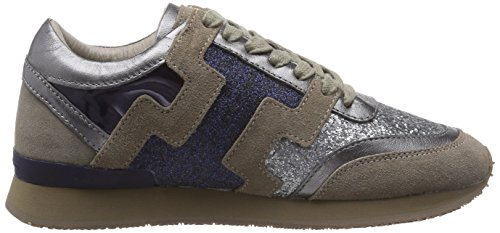 Liebeskind Berlin LS0042 material mix, Low-Top Sneaker donna Grigio (Grau (grey 0002))
