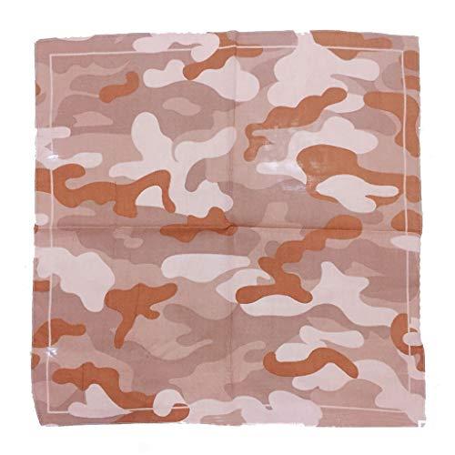 Kofun Quadratischer Schal, Unisex Camouflage Print Baumwolle Bandanas militärische Taktische Headwrap Outdoor-Dschungel-Armband Sport Radfahren Square Schal Headwear 3# -