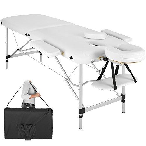 TecTake Table de Massage Pliante Aluminium Cosmetique Lit de Massage Portable + Housse de Transport...