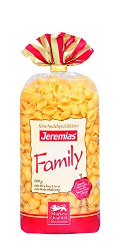 Jeremias Muscheln, Family Frischei-Nudeln, 4er Pack (4 x 500 g Beutel)