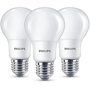Philips LED Lampe ersetzt 60W, EEK A+, E27, warmweiß (2700K), 806 Lumen, matt, Dreierpack