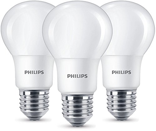 Philips Estándar 8718696586235 - Pack de 3 Bombillas LED 4 Pin, 8 W, Cálida