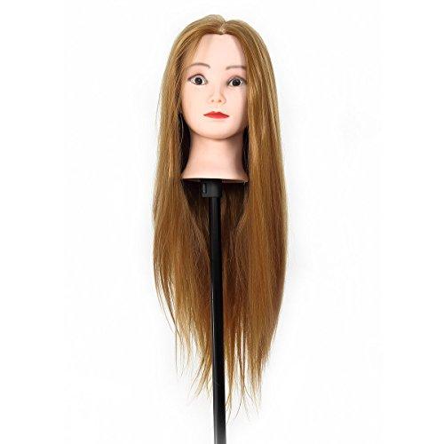 übungskopf friseur CoastaCloud 25 '' 30% Frisurkopf / Friseur Übungskopf mit langen haaren Übungskopf Friseurkopf Ausbildung Kopf mit Tischhalterung (Gesichts-make-up-chart)