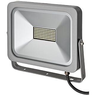 Brennenstuhl Slim außen LED-Strahler (50 W, zur Wandmontage, IP54, LED-Fluter) silber