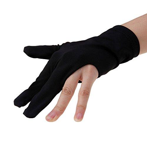 Andux Zone 3 Finger Pool Schützen Billard Handschuhe YD/ST-04 (schwarz)