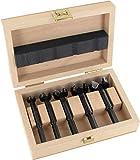 Famag Forstnerbohrer Set WS, 5-teilig, Holzbohrer ø 15-35 mm, Länge 90 mm, in praktischer Holzbox, 1630505