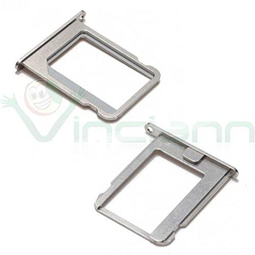 Supporto alloggiamento tray micro Sim card pr iPhone 4 4S metallo ARGENTO (Pr Metallo)