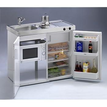 Mini küche mit mikrowelle kompaktküche kleinküche singleküche büroküche b100 cm