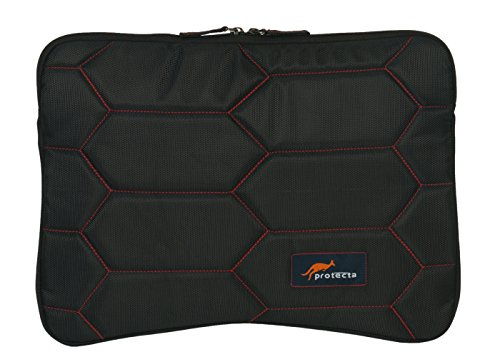 Protecta Honeycomb Laptop Sleeve for Laptops with Screen Size 15.6 Inches (Black & Red)