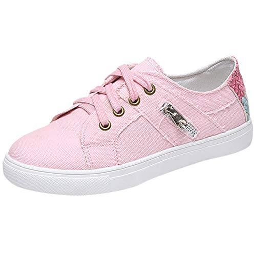 Erdung Single (Epig Womens Plus Size Single Schuhe Flach Mit Schuhen SchnüRen Canvas Sport Sneakers)