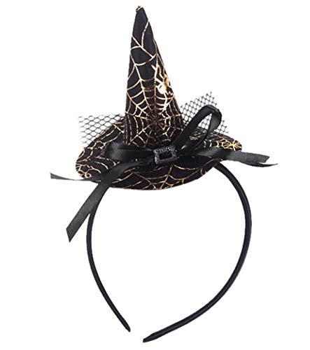 EROSPA® Haarreif - Hexenhut Spinnennetz - Halloween