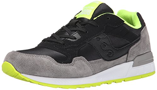 Saucony Boys Shadow 5000 Sneaker (Little Kid/Big Kid), Black/Grey, 12 M US Little Kid Black/Grey