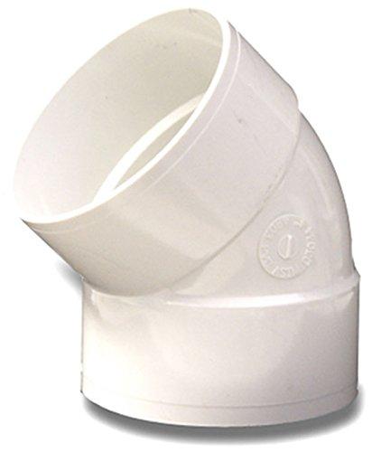 45 Weiße Ellenbogen (NDS Schweißfitting für Ellenbogen 45° weiß)