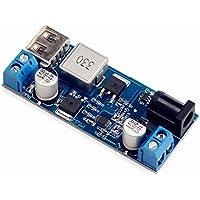 Zerama Reemplazar LM2596S DC-DC 24V / 12V a 5V 5A Bajada Fuente de alimentación Buck convertidor del teléfono USB Ajustable de Paso bajo de Carga Junta