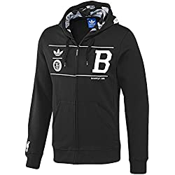Adidas Originals hombre sudadera Brooklyn, Primavera-Verano 2014, hombre, color Negro - negro, tamaño S