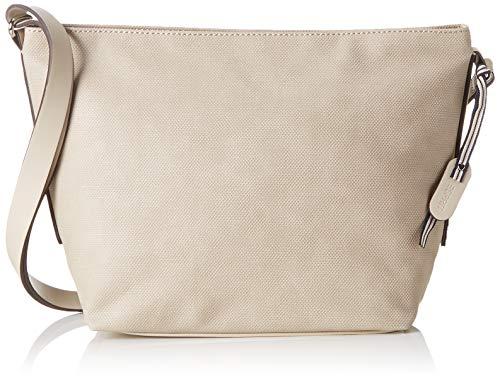Esprit Accessoires Damen Ruby Shldbag Umhängetasche, (Cream Beige), 14x24x26 cm - Beige Stoff Handtaschen