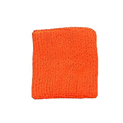 Terry Cloth 3 Ply Ultimate Wristband Various Colors Sweatband (Neon Orange)