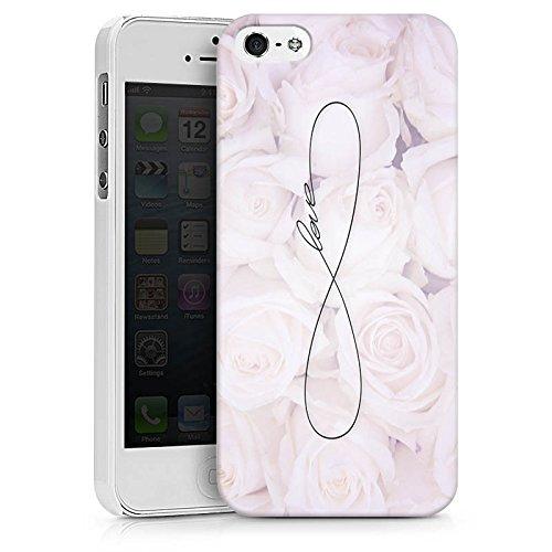 Apple iPhone 6 Tasche Hülle Flip Case Eternal Love Spruch Rosen Liebe Hard Case weiß