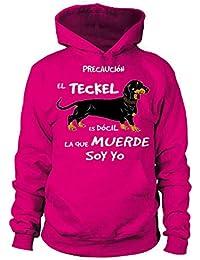 TEEZILY 1 EL TECKEL Sudadera con Capucha Unisex