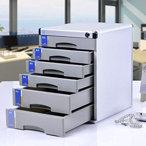 BBG Multifunktions-Büro-Aktenschrank-Aktenschränke Aktenschrank 6-Stöckiger Schreibtisch-Aufbewahrungsschrank Multifunktions-Aluminiumlegierung Mit Schubladenverschluss, A4-Papier Einlegen