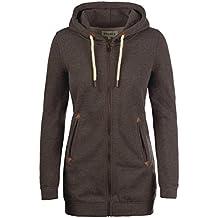 DESIRES Vicky Straight-Zip Damen Sweatjacke Kapuzen-Jacke Zip-Hoodie mit Fleece-Innenfutter aus hochwertiger Baumwollmischung