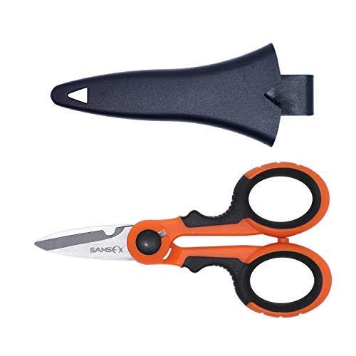 Samsfx lenza intrecciata braid scissors guaina kit di strumenti per acqua salata acqua dolce