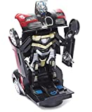 #6: Jiada Transformer Sports Car Toy with Convertible Robot with Lights, Music & Bump & Go Function