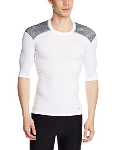 adidas Oberbekleidung Tf Base Short Sleeve Kurzarm Shirt, White/Core Heather, S - Climacool Short Sleeve Shirt