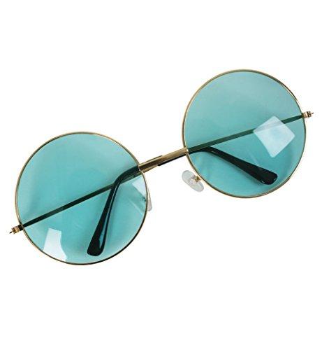 Hippie Brille, sortierte Farben (Kostüm Blaue School Old)