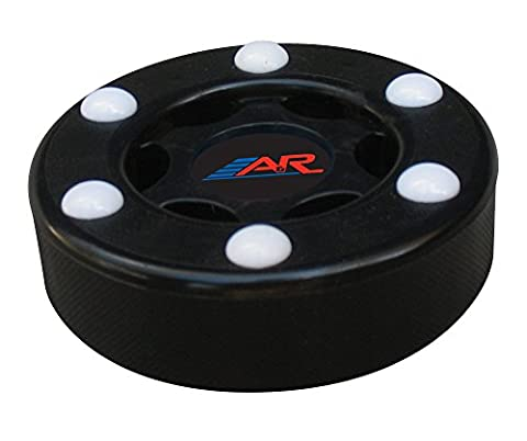 A&R Street Floor Plastic Puck W 6 Roller Balls Black Six Button PVC Street Puck