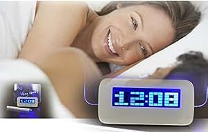 Moonar® Romantique LED réveil alarme lumineuse fluorescente Babillard Horloge numérique Veilleuse Avec Calendrier