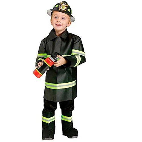 Boo Fire Fighter Feuerwehrmann Kinder Fasching Halloween Karneval Jungen Kostüm (Kostüme Halloween Fire Fighter)