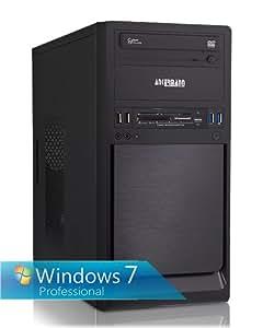 Ankermann-PC SILENT STARµ, AMD A4-4000 2x 3.00GHz Turbo: 3.20GHz, onBoard AMD Radeon HD 7480D, 4 GB DDR3 RAM, 500 GB Disque Dur, Windows 7, Card Reader, EAN 4260370250504