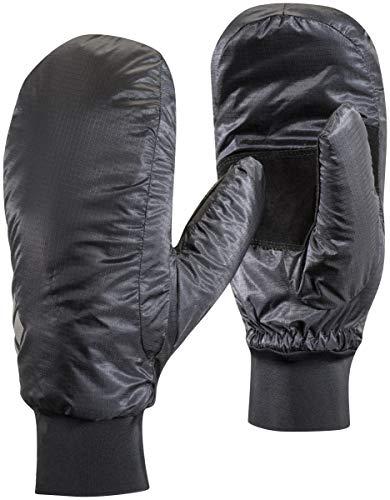 Black Diamond Stance Mitts Handschuhe für Skitouren oder Wanderungen / Wind- & wasserfester Fausthandschuh mit Ziegenleder Handflächen / Black, Größe: XL