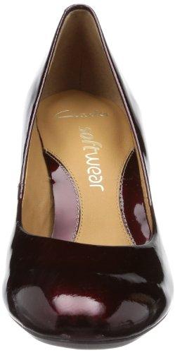 Clifton Peep Escarpins Bridge Clarks Wine Femme Toe Patent Rot Rouge FYxCwOfF
