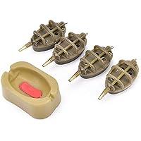 Wildlead Inline Method - Juego de 4 moldes de plástico para alimentador de Pesca de Carpa, 30/40/50/60g