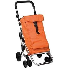 Play M129710 - Carro compra go up 4 ruedas plegable naranja