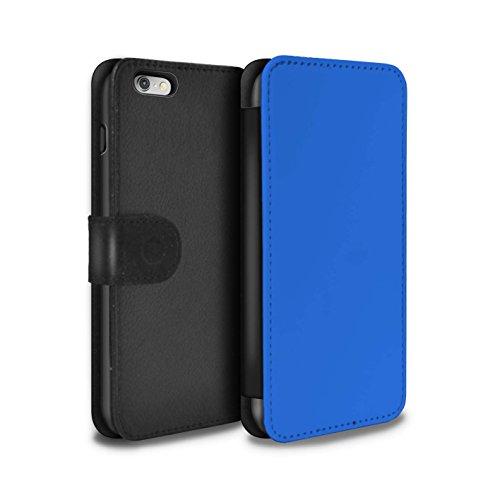 Stuff4 Coque/Etui/Housse Cuir PU Case/Cover pour Apple iPhone 4/4S / Noir Design / Couleurs Collection Bleu