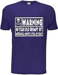 40 Year Old Git Mens 40th Birthday T-Shirt Size S-XXL