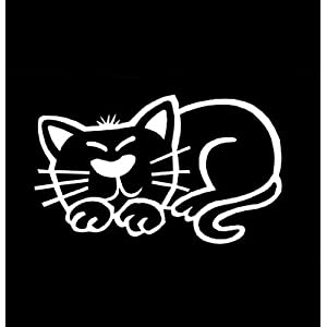My Stick Figure Family Familie Autoaufkleber Aufkleber Decal Sticker Katze schläft PC2