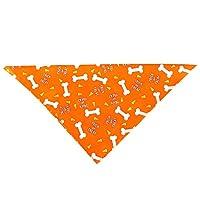 Xinqin Ding Pumpkin triangle scarf Halloween headband cat bib dog saliva towel pet dress up for Halloween party