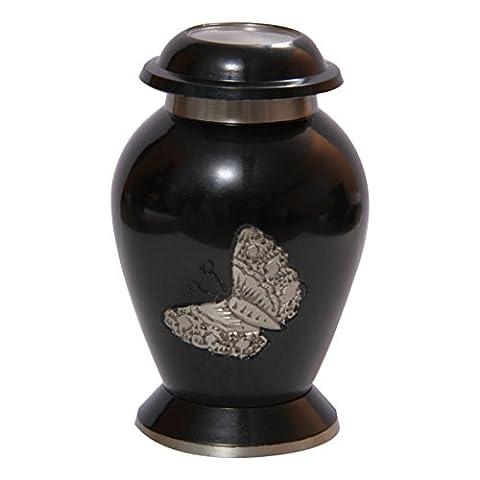 Urns Messing-Andenken, klein, Schmetterling-Motiv,