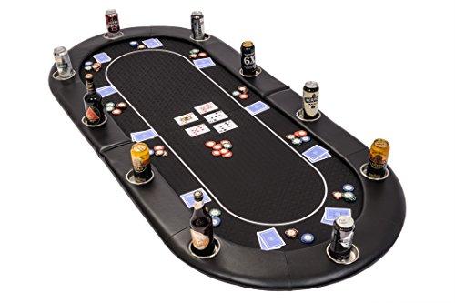 Riverboat Faltbare Pokerauflage mit Schwarzem wasserabweisenden Stoff und Tasche - Pokertisch 200cm - 8