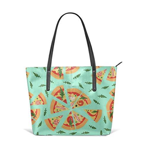 jhin Assorted Pizza Slices Satchel Purses and Handbags Handtaschen Leather Tote Bags Satchel Top Shoulder Leisure Handbags Handtaschen Office Briefcase Tote -