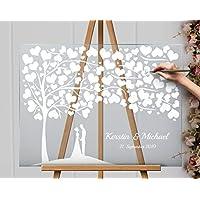 Albero di nozze in acrilico, wedding tree, Unico Acrilico trasparente L'albero della vita, albero matrimonio compleanno libro degli ospiti